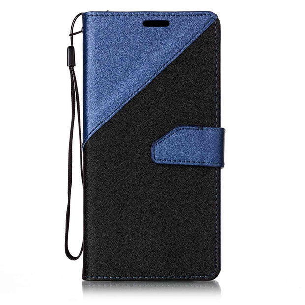 Karribeca Flip PU Leather Cases For Samsung Galaxy S8 Case Dual Color Wallet Cover Bag Samsung S8 Case Coque Etui Kryty Husa Tok