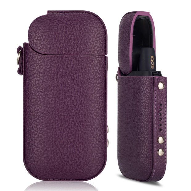Kogngu Electronic Cigarette Case For IQOS 2.4plus Portable PU Leather Bag For IQOS II 2.4 Plus III Pouch Carrying Cover