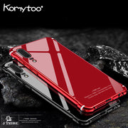 Komytoo Aluminum Metal Phone Case For Huawei P20 Mate 10 Case Cover Tempered Glass Cover For Huawei P20 Mate10 Pro Funda Coque