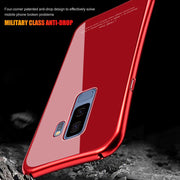 Komytoo Aluminum Metal Phone Case For Samsung Galaxy S9 Case Luxury Bumpered Tempered Glass Cover For Samsung S8 S9 Plus Note8