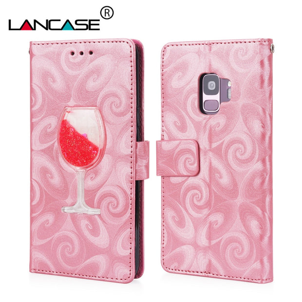 LANCASE Flip Case For Samsung Galaxy S9 Wallet Card Slot Stand PU Leather Cover For Samsung S9 Plus Phone Bags Silicone Magnetic