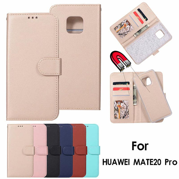 LANCASE For Huawei Mate 20 Case Leather Wallet Magnetic Flip Case For Mate 20 Pro Mate20 Lite 2 In 1 Detachable Phone Case