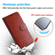 LANCASE Phone Pouch Bag For Xiaomi Redmi Note 5 Leather Case Card Stand Wallet Case For Redmi Note 5 Pro 5 5 Plus Filp Cover TPU