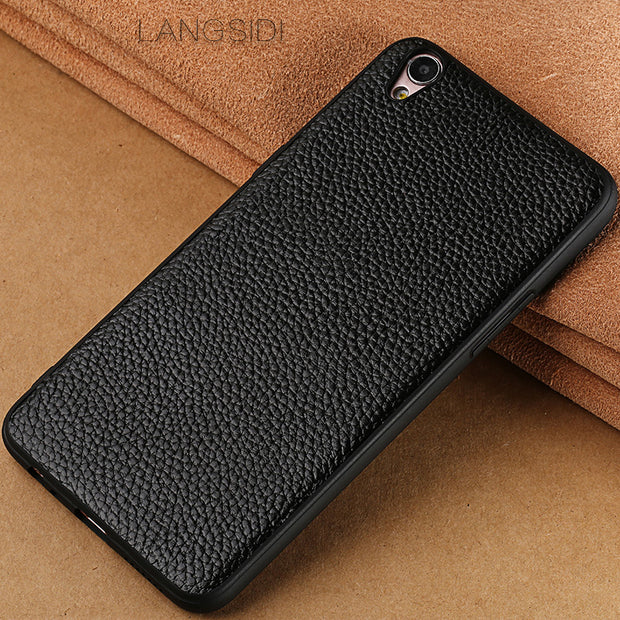 LANGSIDI Brand Phone Case Litchi Grain All-inclusive Phone Case For OPPO R9 Plus Phone Case Full Handmade Custom Processing