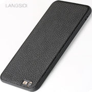 LANGSIDI Brand Phone Case Litchi Grain All-inclusive Phone Case For IPhone 6 Plus Phone Case Full Handmade Custom Processing
