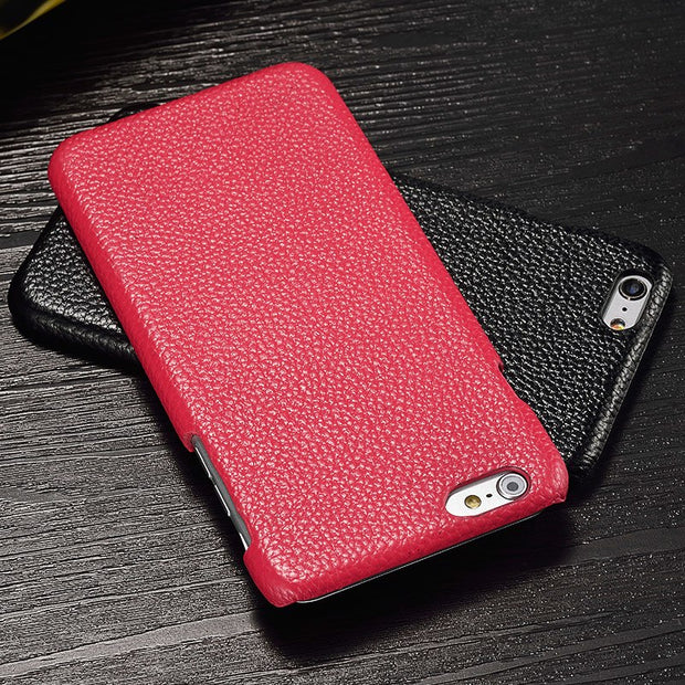 LANGSIDI Leather Phone Case For Iphone X Shell Hand-made Pebbled Leather Case
