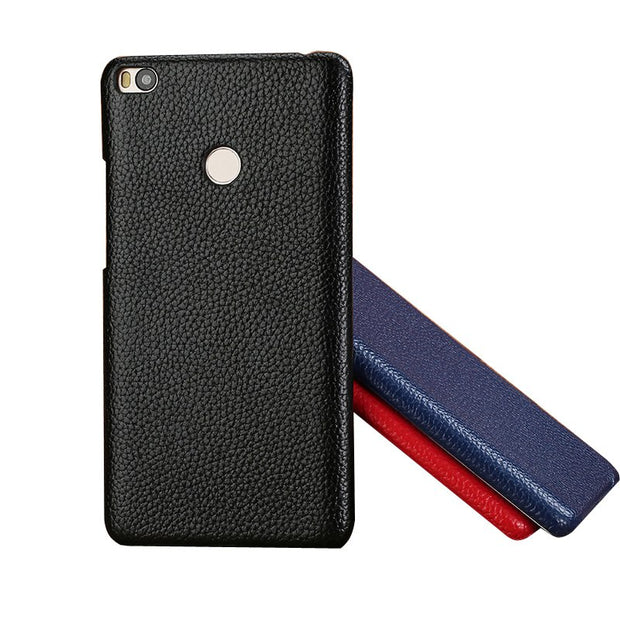 LANGSIDI Mobile Phone Shell For Xiaomi Mi 5X Plus Mobile Phone Shell Advanced Custom In Litchi Pattern Half Pack Leather Case