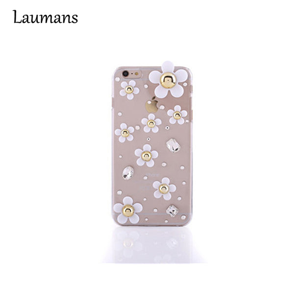 Lastest Diy Flower Transparent Phone Case For Iphone 8plus Bling Glitter Diamond Crystal Cover For 5c 5s 6 6s 7 Plus Back Cover