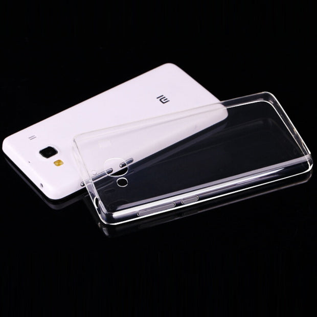 Laumans 10pcs/lot Ultra Slim Phone Cover For Xiaomi Redmi 2 Smooth TPU Gel Transparent Clear Phone Case For Xiao Redmi 2