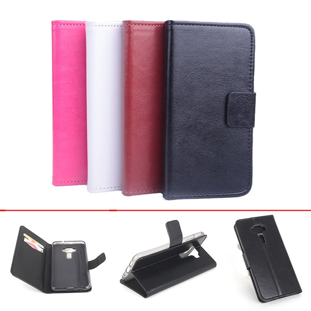 Leather Case For ASUS Zenfone 3 Lite ZE520KL 5.2 Inch Flip Cover Case With Card Slot Housing For Zenfone3 Cellphone Phone Cases