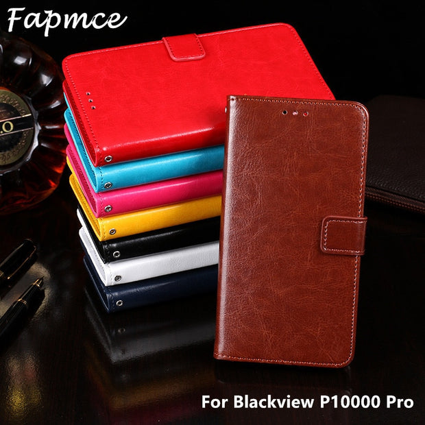 Leather Case For Blackview P10000 Pro Fashion Wallet Stand Book Cover For Blackview P10000 Pro Phone Bags Case 5.5 Inch Coque