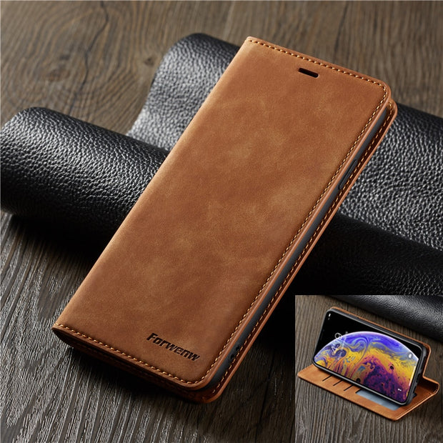 "Leather Flip Case For Iphone XS Max Case 6.5"" Wallet Cover Iphone XS XR X Phone Cases Card Slot Coque For Apple Iphone X Cover"
