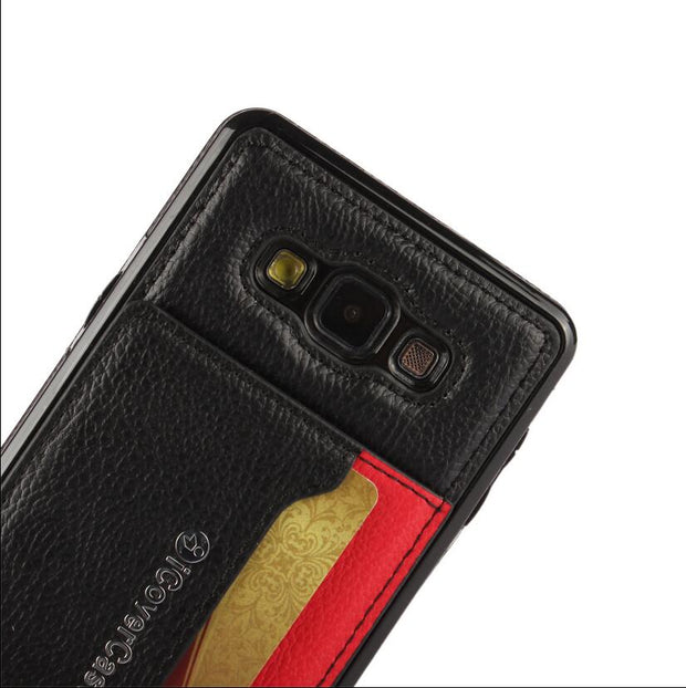Leather Mobile Phone Case For Samsung Galaxy A7 Wallet Cover Cases For Samsung S5 S6 Edge Plus Note5 With Card Slot