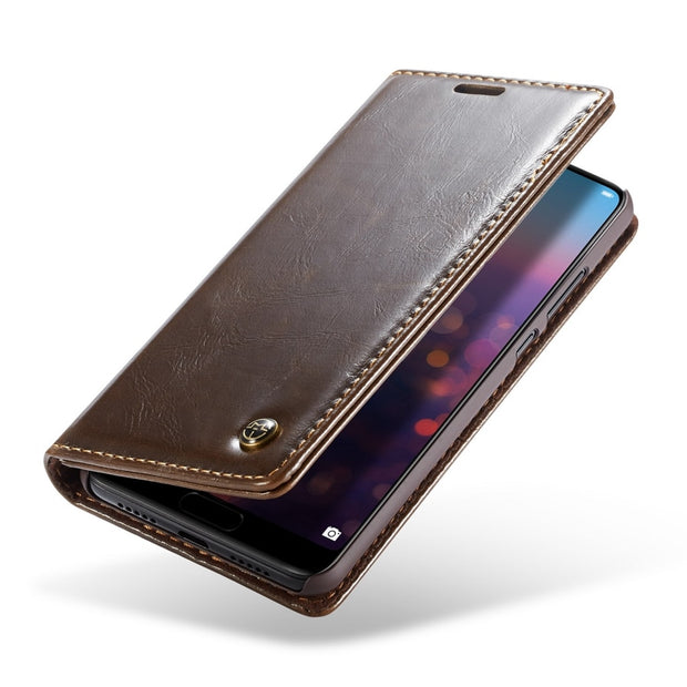 Leather Phone Cases SFor Fundas Huawei P20 Case For Huawei P20 Pro Case Coque Magnetic Flip Stand Wallet Protective P20Pro Cover
