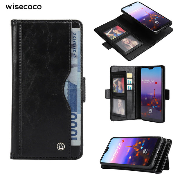 Leather Wallet Case For Funda Huawei P20 Pro P20pro Coque Luxury 2 In 1 Retro Magnetic Card Holder Flip Etui Cover For Huwei P20