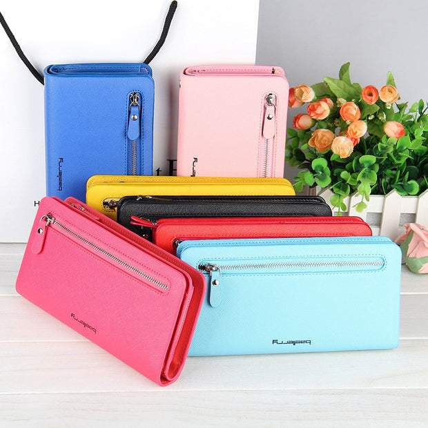 Long Zipper Purse Women Wallet Purse Phone Pocket Case For Samsung Galaxy J6 Plus 2018 J3 J5 J7 2016 2017 J2 Pro J4 2018 Cover