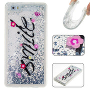 Love Heart Stars Glitter Stars Dynamic Liquid Quicksand Painting Soft TPU Phone Back Cover Case For Huawei P8 Lite P9 Lite Cases