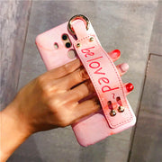 Lovely Pink Hard Plastic Case For Huawei Mate 10 Original Sling Phone Cover For Huawei Mate 9 Flip Stand Skin Mate9 Mate8 Mate9p