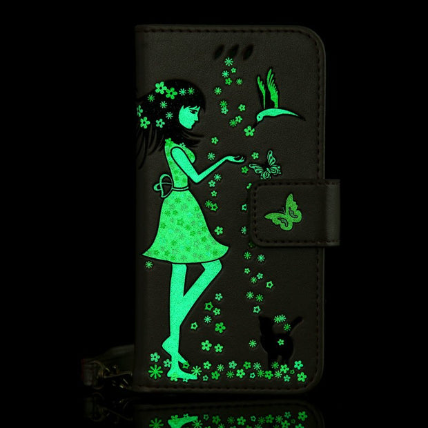 Luminous Phone Case For Samsung Galaxy S3 S4 S5 S6 S7 Edge S8 Plus A3 A5 J3 J5 J7 2016 A3 A5 J3 J7 2017 J5 Prime J7 Prime Cover