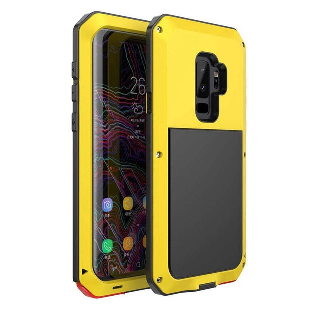 LuxurFor Samsung Galaxy S9 Case Outdoor Sports Metal And Silicone For Samsung Galaxy S9 Plus Case Alloy Mobile Phone Cover