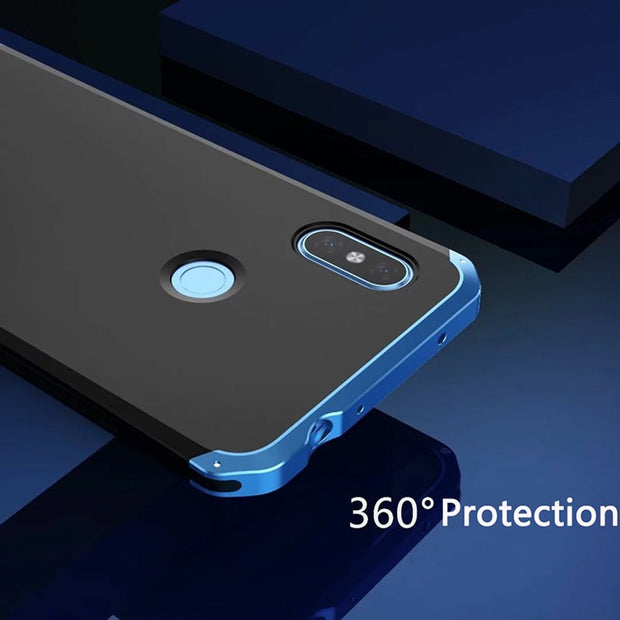 Luxury 360 Shockproof Case For Xiaomi Redmi Note 6 Pro Mi 8 Mi 8 SE Aluminum Metal Bumper Hard PC Back Cover For Redmi Note6 Pro