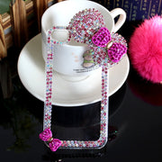 Luxury 3D Bow-knot Diamond Case Rhinestone Crystal Bling Cover Hard Back Funda Coque Capa Para For IPhone 6s 6 Plus 5S 5 5C 4S 4
