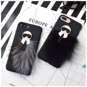 Luxury 3D Mr KarlLagerfeld Fur Skin Soft Case For Iphone 6 6s 7 8 Plus X 10 Storm Trooper Monopoly Lafayette Snake Tige Cover