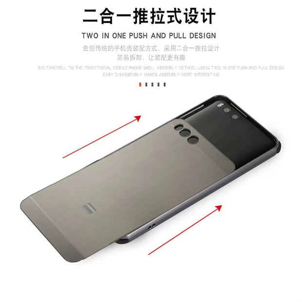 Luxury Aluminum Metal+PC Case For Xiaomi Mi Note 3 Hard Mirror Effect Hybrid Coque Protective Back Cover For Xiaomi Mi Note3
