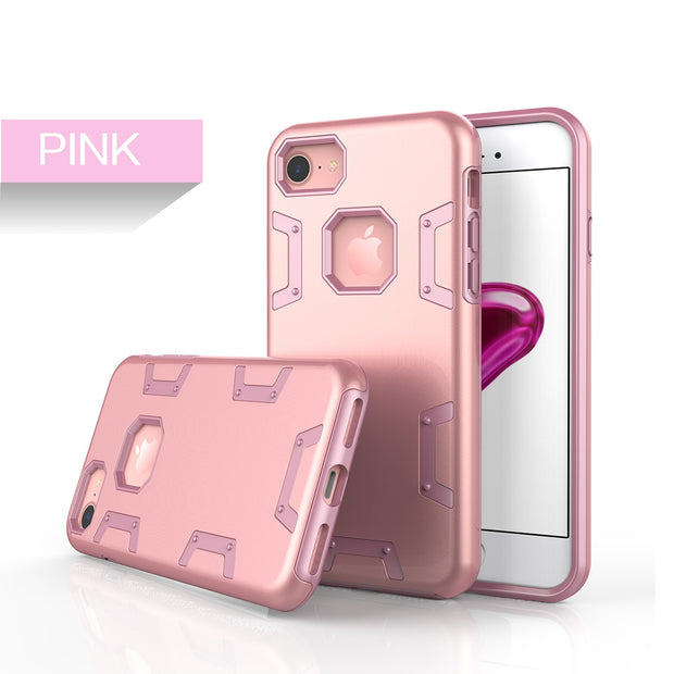 Luxury Case For Iphone 7 7 Plus Soft Case For Protective Shockproof Heavy Duty Armor Cover For Iphone 7plus