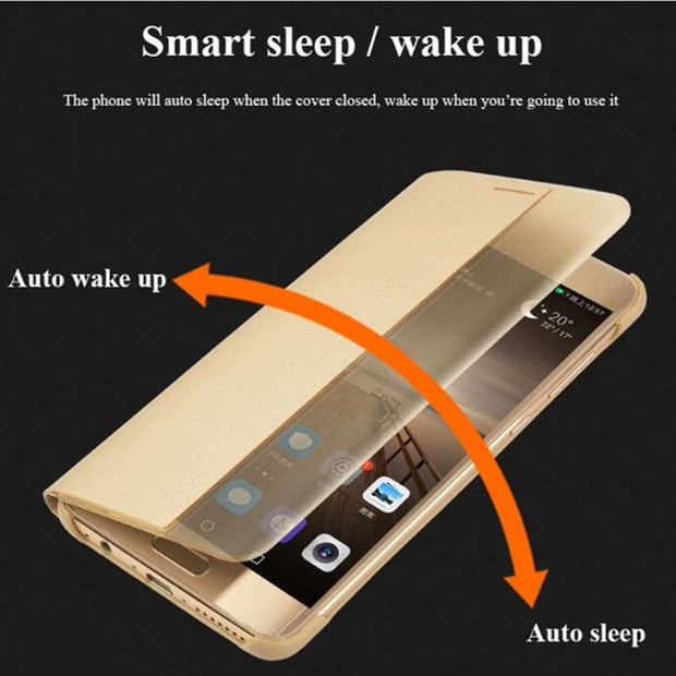 Luxury Case For Huawei P10 P10 Plus Smart Auto Sleep View Windows Flip PU Leather Cover For Huawei Ascend P10 Protective Shell