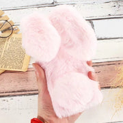 Luxury Cut Rabbit Fur Case For Coque Huawei P Smart Case Soft Silicone Rabbit Fur Cover For Funda Huawei P Smart / Enjoy 7S Case