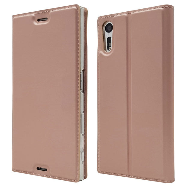 "Luxury Flip Leather Case For Sony Xperia XZ Case F8331 Dual F8332 Protective Stand Cover For Sony XZ 5.2"" Phone Cases"