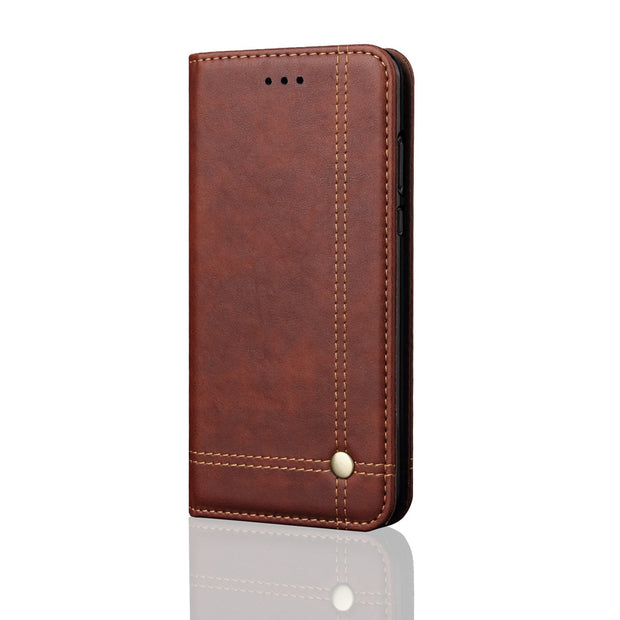 Luxury Flip Leather Case For Xiaomi Redmi 6 Case Wallet Pouch Style Card Slot Stand Cover For Xiaomi Redmi 6 Phone Cases 5.45""