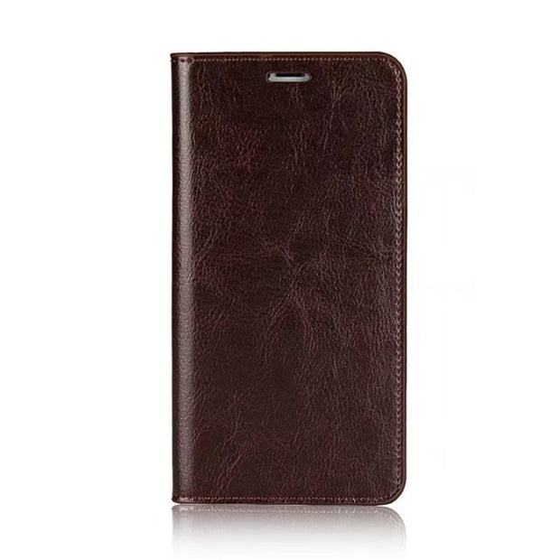 Luxury Genuine Leather Phone Case For IPhone 8 Case Flip Wallet Back Cover For IPhone X Case For IPhone 5s 6 6s 7 Plus Cover