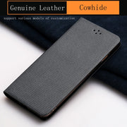 Luxury Genuine Leather Flip Case For HUAWEI P10 Lite Case Diamond Pattern Soft Silicone Inner Shell Phone Flip Cover