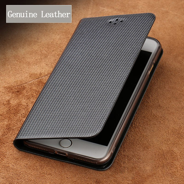 Luxury Genuine Leather Flip Case For Nokia 5 Case Diamond Pattern Soft Silicone Inner Shell Phone Flip Cover