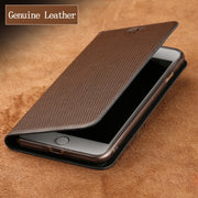 Luxury Genuine Leather Flip Case For Nokia 8 Case Diamond Pattern Soft Silicone Inner Shell Phone Flip Cover