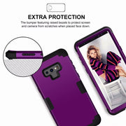 Luxury Heavy Duty Hybrid Sturdy Armor Defender High Impact Shockproof Protective Cover Case For Samsung Galaxy Note 9
