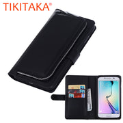 Luxury Leather Flip For Samsung Galaxy S7 S6 Edge S5 Cover 2 In 1 Removable Wallet Case Card Slots Phone Pouch Stand Holder Capa