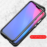 Luxury Magnetic Adsorption Metal Case For Vivo X21 X21 UD Tempered Glass Back Cover Coques For Vivo X21 Protective Shell