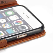 Luxury Phone Cases Original Brand Pu Leather Magnet Auto Flip Wallet Case For Iphone 7 5se 6 6splus 7plus 8 Accessories JS0500