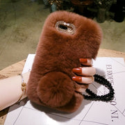 Luxury Rabbit Fur Case For Xiaomi Redmi 4X 4A 5 5A 6A 5Plus Note3 4 4X 5 Cover Fashion Winter Soft Furry Shell Plush Phone Cases