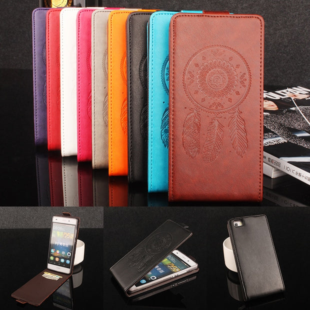 Luxury Retro Coque PTU Silicone Leather Case For HUAWEI P8 Flip Cover For HUAWEI P8 Wallet Phone Cellphone Cases