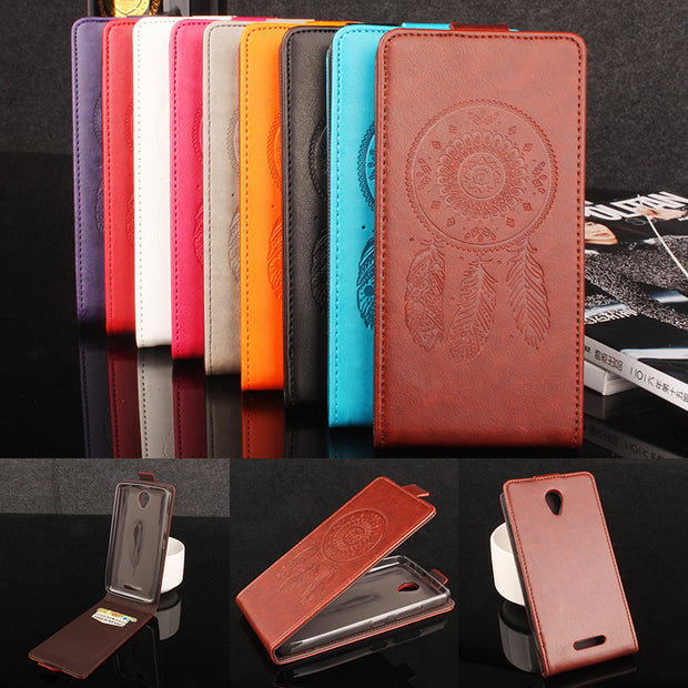 Luxury Retro Coque PTU Silicone Leather Case For Lenovo A5000 Flip Cover For Lenovo A5000 Wallet Phone Cellphone Cases