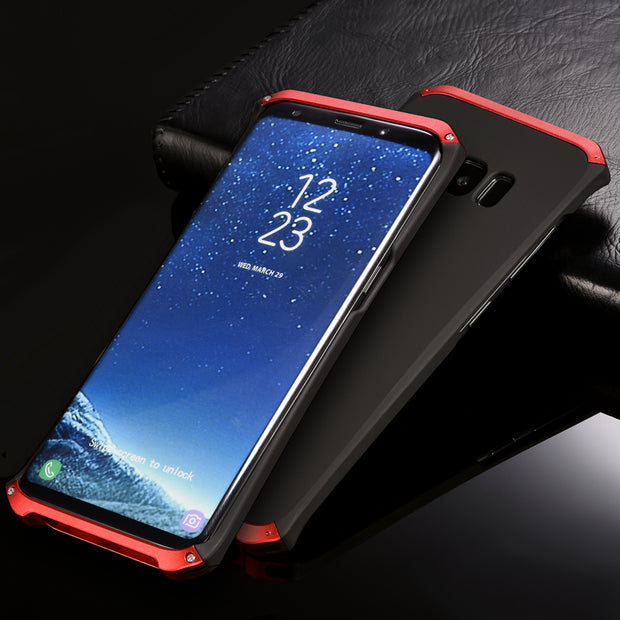 half off 38507 58361 Luxury Shockproof Armor Element Metal Case For Samsung Galaxy S8/ S8 Plus  Cases Hard Aluminium PC Case For Samsung S8 Back Cover