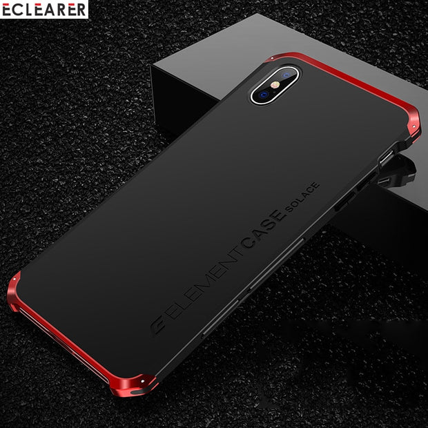 Luxury Shockproof Armor Element Metal Case For IPhone XS Max Cases Hard Aluminium & PC Case For IPhone X XS XS MAX XR Back Cover
