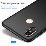 Luxury Slim Hard Plastic Phone Case For Xiaomi 8 8plus SE ForXiaomi Eight Case Cover Original Protection Black Red Dropshipping