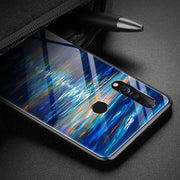 Luxury Tempered Glass Case For Huawei Nova 4 Case Soft Silicone Frame Hard Back Cover 6.4'' For Huawei Nova4 Phone Cases Shell