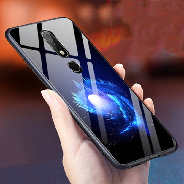 Luxury Tempered Glass Case For Nokia X6 2018 Case Soft Silicone Frame Hard Back Cover For Nokia X 6 Cases Nokiax6 TA-1099 Shell