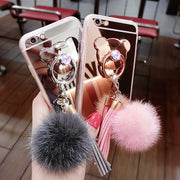 Luxury Women Lady Fling Ball Ring Holder Case For Letv 1S X500 / One S X500 / LeEco Le 2 Soft TPU Mirror Plating Tassel Case